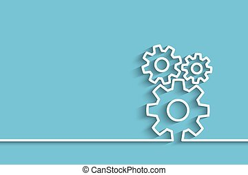 gears back - gears on a creative background for your design