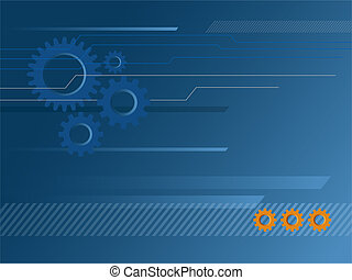 Gears Background - Illustration of Industrial &...