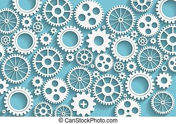 gears background - Creative blue gears background.