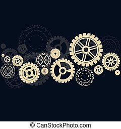 Gears background with shadow