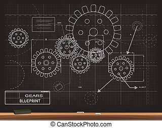 Gears Blueprint Illustration