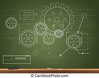 Gears Blueprint Illustration