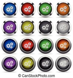 Gears button set