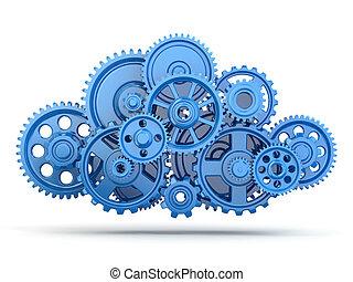 Gears. Cloud computing. - Cloud computing from gears on...