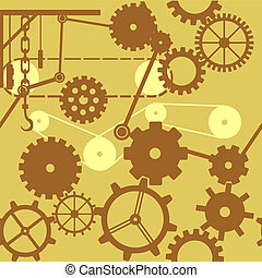 Gears, Cogs and Wheels_Seamless Tile_stock