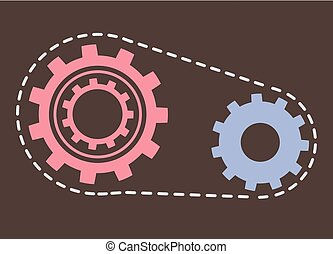 Gears Cogwheels Symbolizing Unity and Process