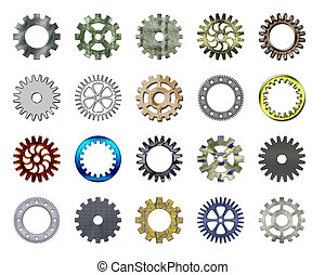 Gears collection #2. Isolated