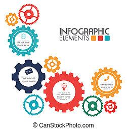 gears design over background vector illustration