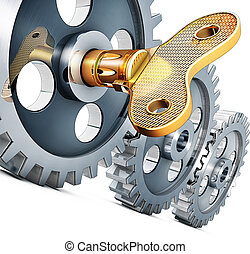gears - illustration of a gears concept