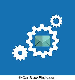 gears elements message email icon