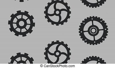 Gears falling background HD animation
