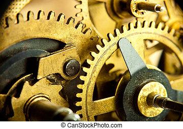 gears from mechanism closeup
