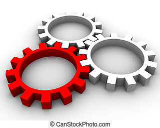 gears - Gear on a white background for connection of...