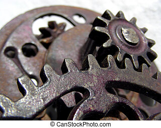 Gears, Gears, Gears - Multiple gears on antique apple corer