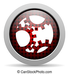 gears glossy icon