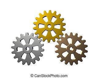 Gears (Gold, Silver, Bronze)