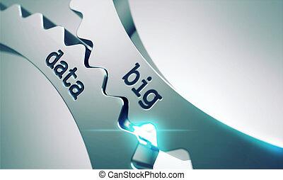 gears., grande, concetto, dati