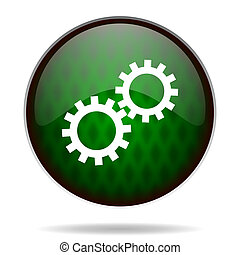 gears green internet icon