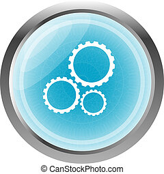 gears icon (button) isolated on a white background