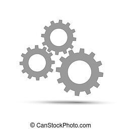 Gears icon. - Gears icon on a white background