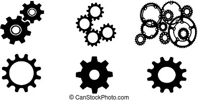 gears icon on white background