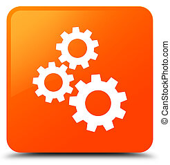 Gears icon orange square button