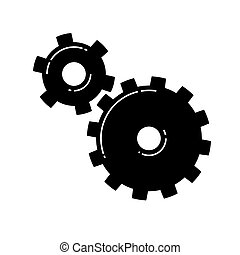 Gears icon. Vector illustration