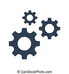 Gears icons on white background.