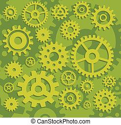 Gears in green