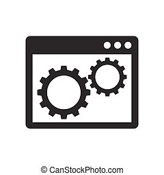 Gears inside the browser window icon