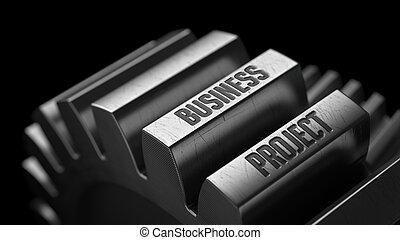 gears., métal, projet, business