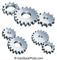 gears., métal