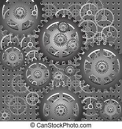 gears - mechanism - vector