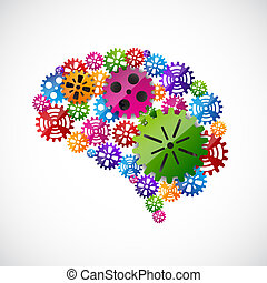 Gears mind. EPS10 vector