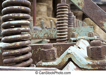 gears of agricultural machinery - gears of an old...