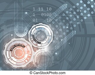 Gears on abstract vector background