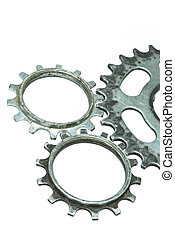Gears on the white background