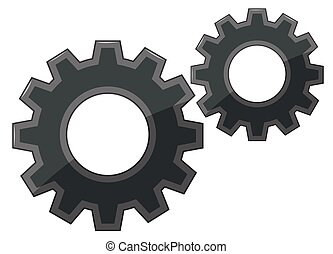 Gears on white background