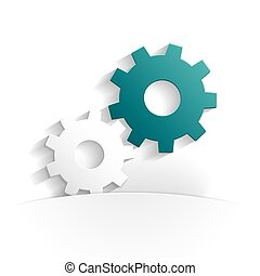 gears paper icon