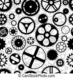Gears Repeating Background