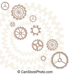Gears - Set of gears of the different form on white...