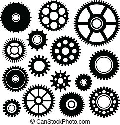 Gears set - Vector set of some gears