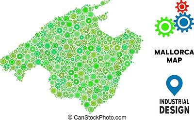 Gears Spain Mallorca Island Map Composition - Gear Spain...