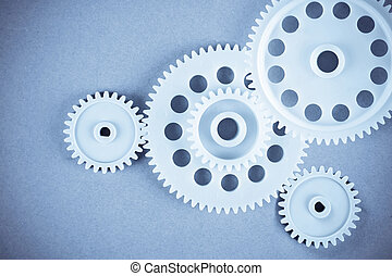 gears - the gears meshing together(teamwork concept)