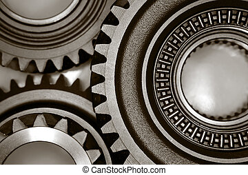 Gears - Metal cog gears joining together