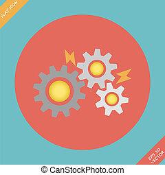 Gears - vector illustration.
