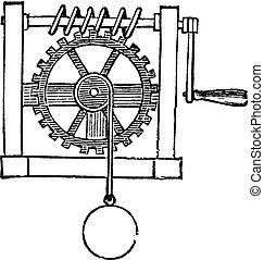 Gears, vintage engraved illustration
