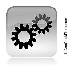 Gears web interface icon