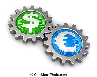 Gears with Dollar and Euro
