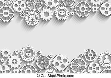 gears with icons inside